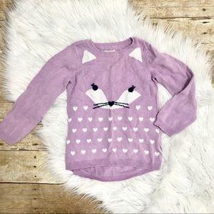 {Children's Place} Lavender Cat Sweater